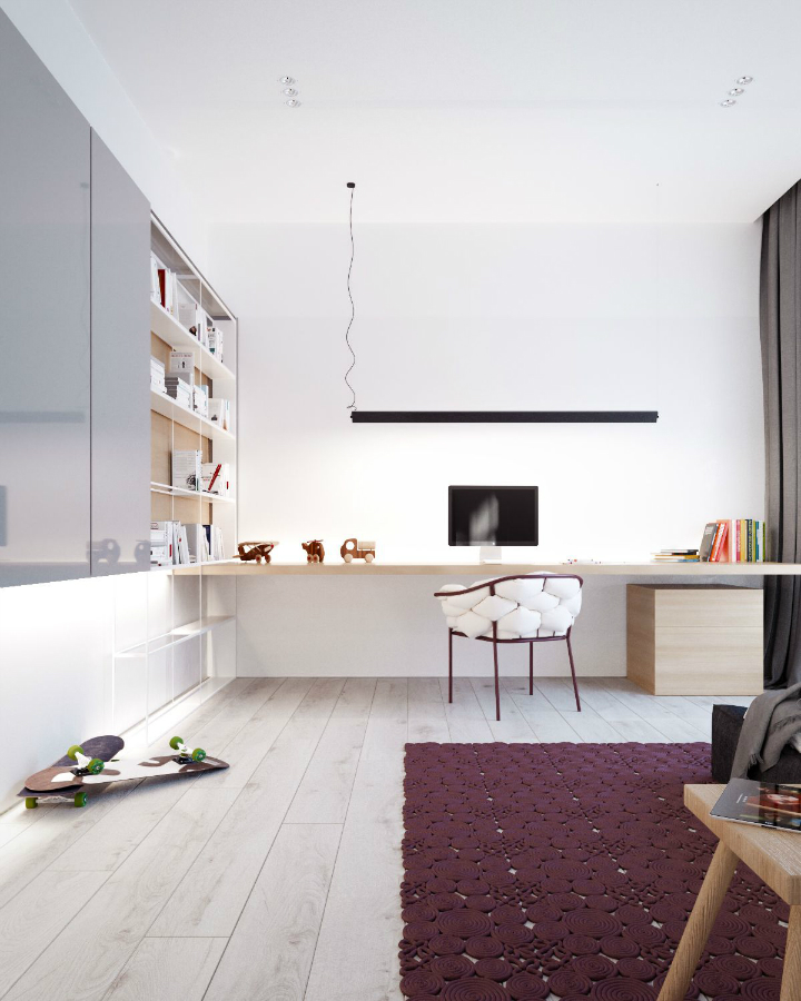 Minimalist Black and White Interior 19