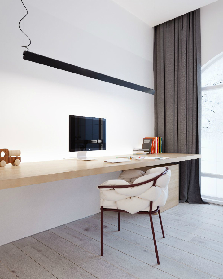 Minimalist Black and White Interior 20