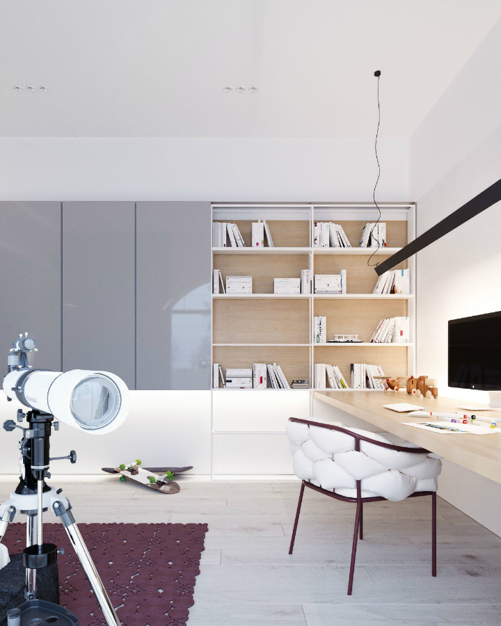 Minimalist Black and White Interior 21