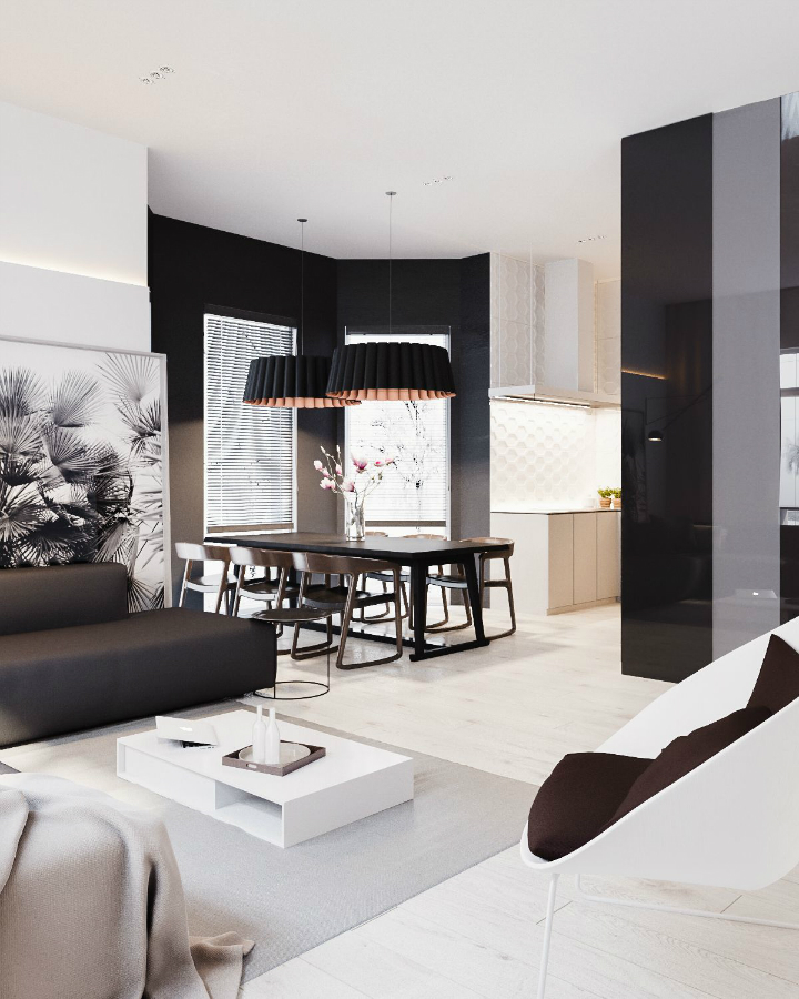 Minimalist Black and White Interior 6