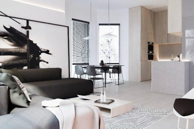 Minimalist Black and White Interior