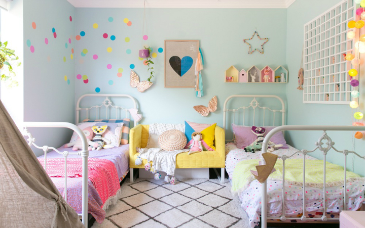 Lovely Family Home Filled With Light Color and Pattern 29