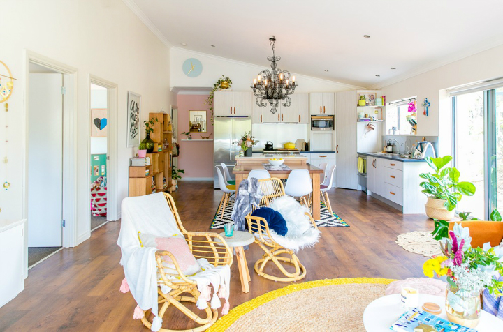 Lovely Family Home Filled With Light Color and Pattern 2