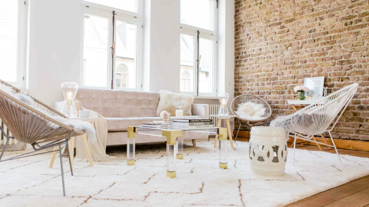 fashionable stylish loft interior design