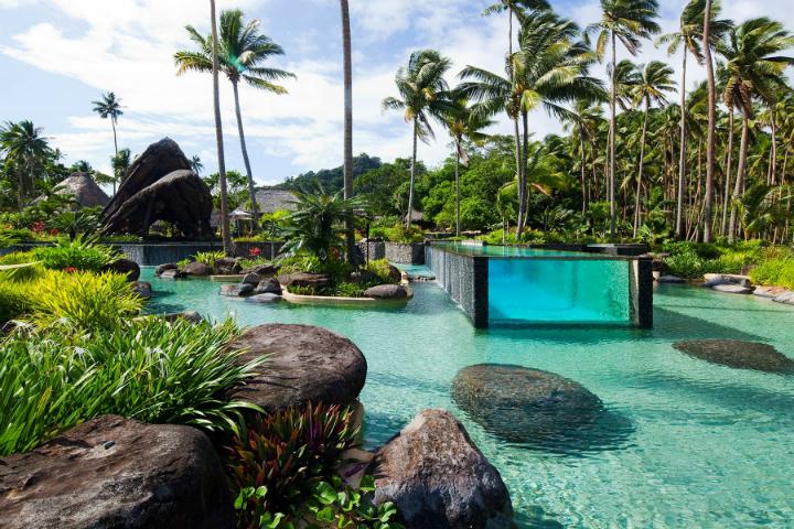 Laucala swimming pool