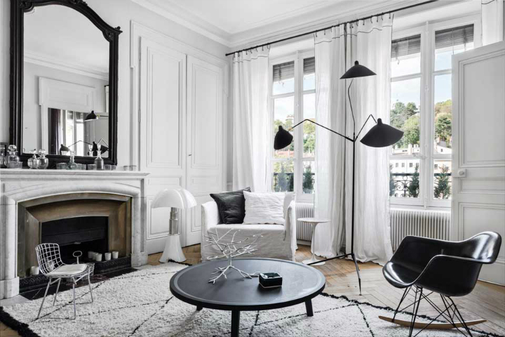 The Luxurious White-Themed French Apartment interior