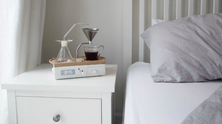 A Designer Coffee Maker Alarm Clock Is Finally Here - Decoholic