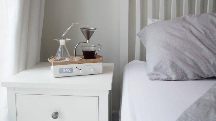 Designer Coffee Maker Alarm Clock