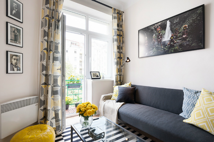 Color-Filled Budget-Savvy Prague Apartment 3