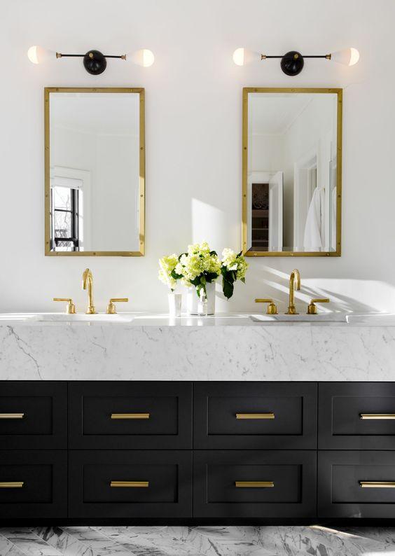 black and white bathroom design 12