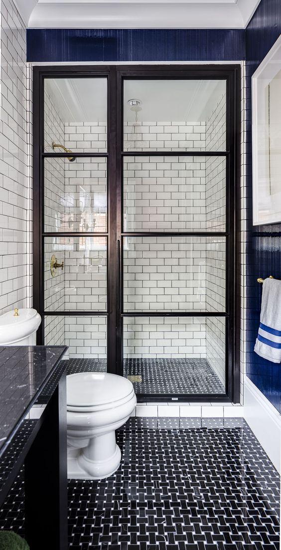 black and white bathroom design 13