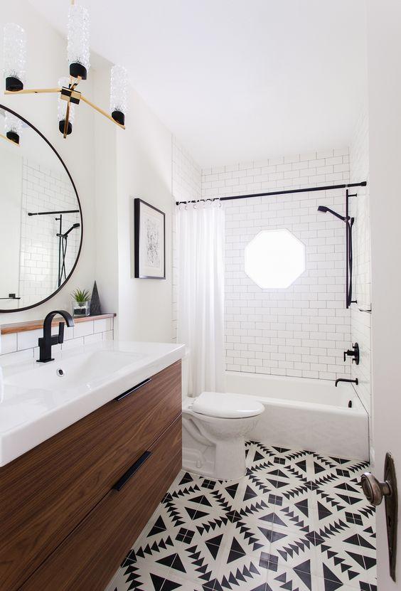 black and white bathroom 19 design