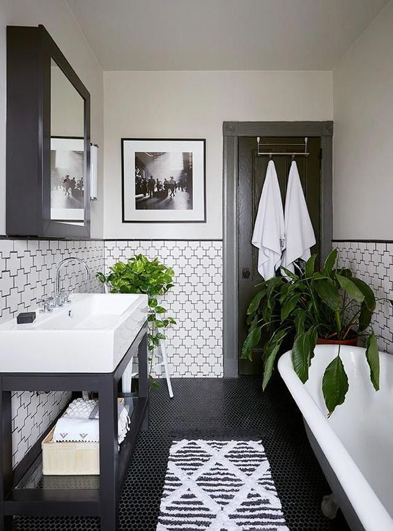 Why A Clic Black And White Bathroom