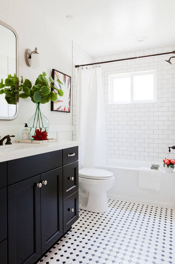 black and white bathroom idea 2