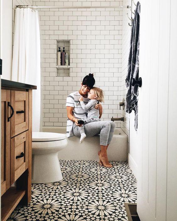 black and white bathroom idea 6