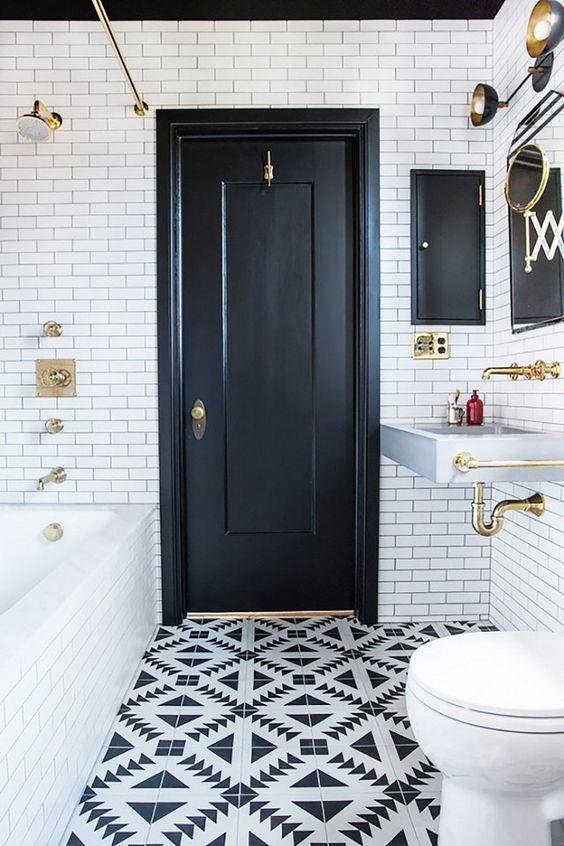 black and white bathroom design 9