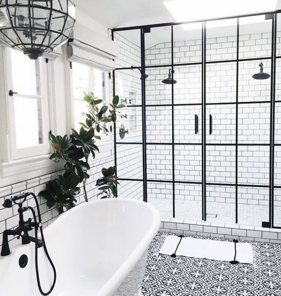 Classic Black And White Bathroom Designs : Bathroom ideas why a classic black and white scheme is