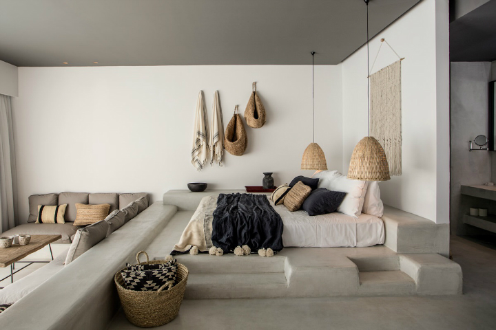 Casa Cook: Bringing an Urban Beat to the Beach   bohemian hotel design on greek island 17