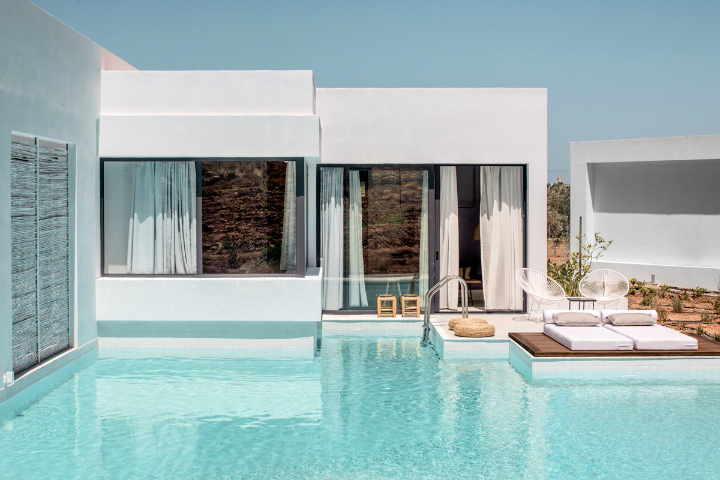 Casa Cook: Bringing an Urban Beat to the Beach   bohemian hotel design on greek island 24