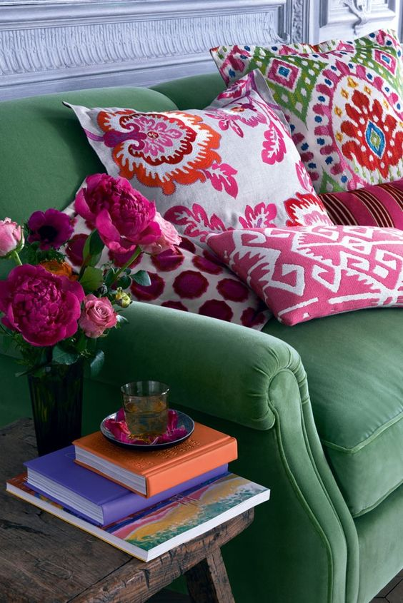 colorful bohemian living room 10