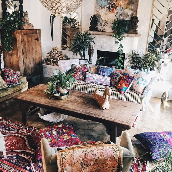 colorful bohemian living room 2
