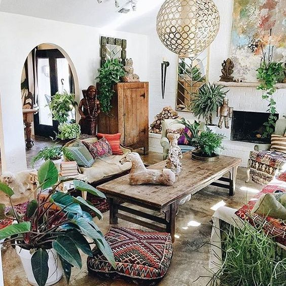 colorful bohemian living room 4