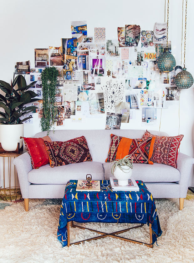 Colorful Bohemian Living Room 7