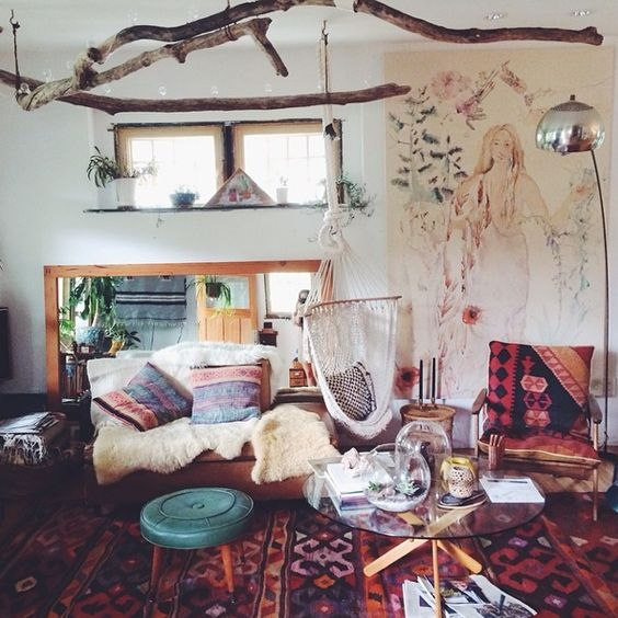 colorful bohemian living room 8