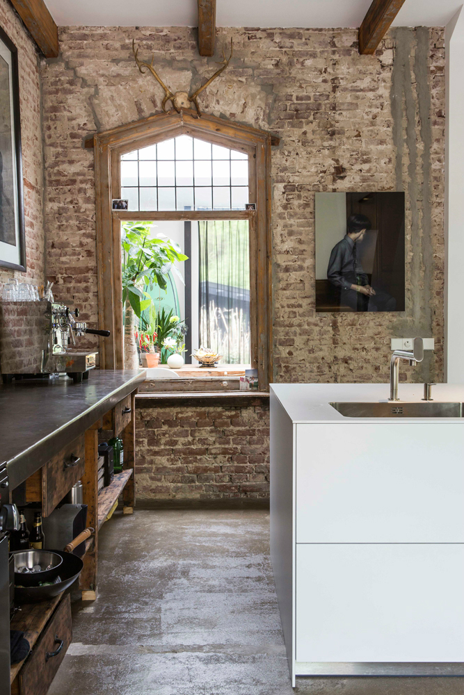 Exposed Brick Walls In A Modernized Interior by zw6 2