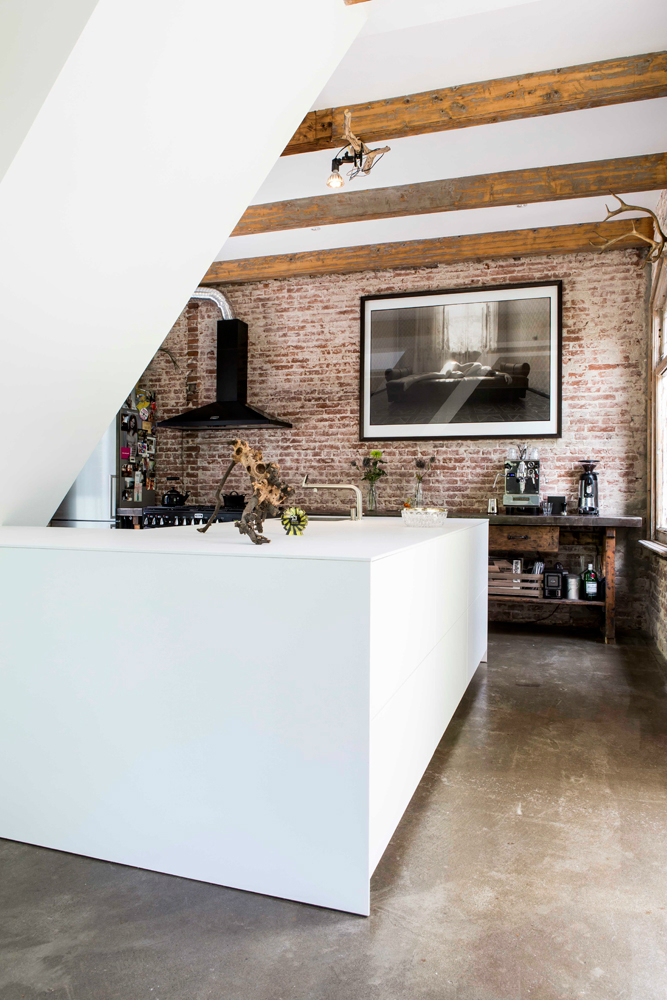 Exposed Brick Walls In A Modernized Interior by zw6 3