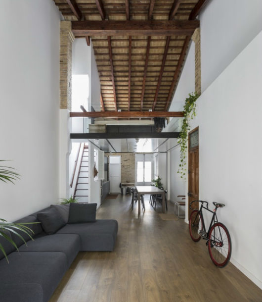 A Loft In Which The Only Closed Part Is The Bath