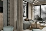 small contemporary gray apartment interior design