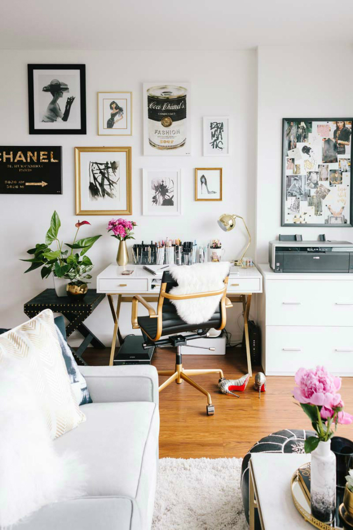 A tiny san francisco apartment that is every girl 39 s dream - Decor ideas for living room apartment ...