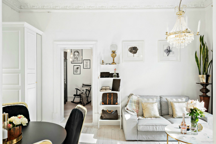 black and white small apartment decoration 11