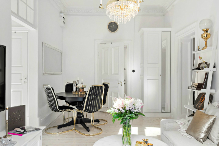 black and white small apartment decoration 12