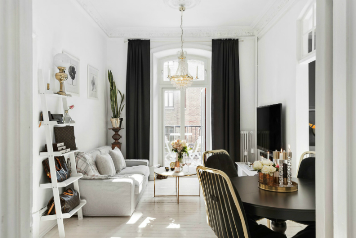 black and white small apartment decoration 2