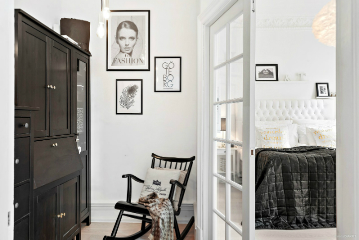 black and white small apartment decoration 3