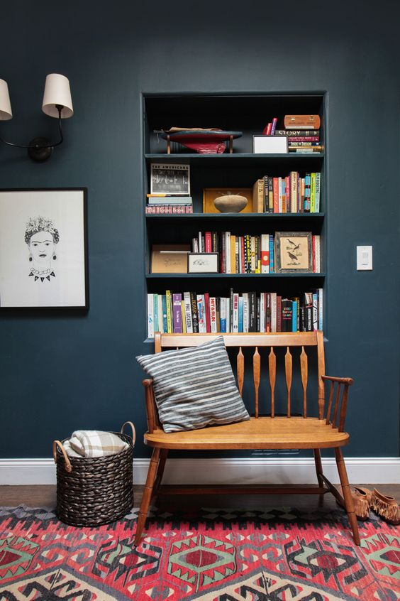 stylish alcove bookshelve