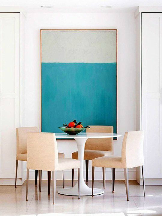10 ways to create a relaxed look dining room decoholic for Big wall art
