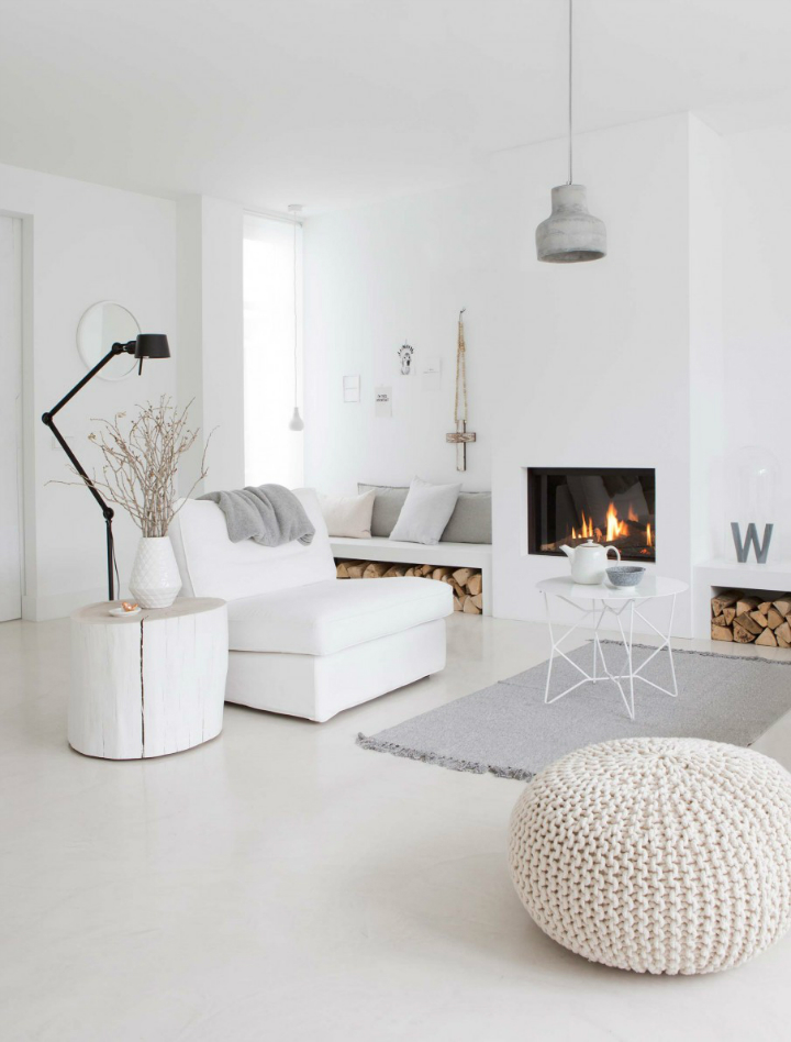 Sophisticated White-Themed Home