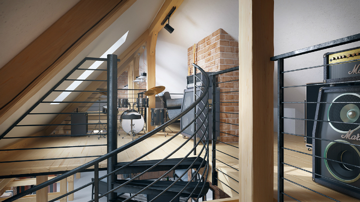 stunning loft interior design idea 10