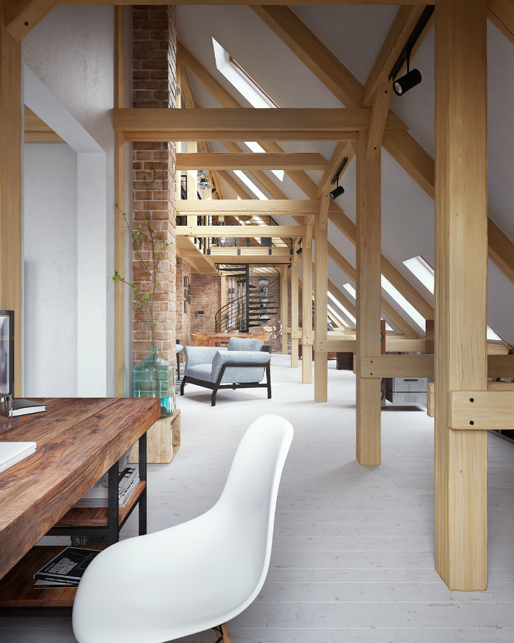 ... Stunning Loft Interior Design Idea 13 ...