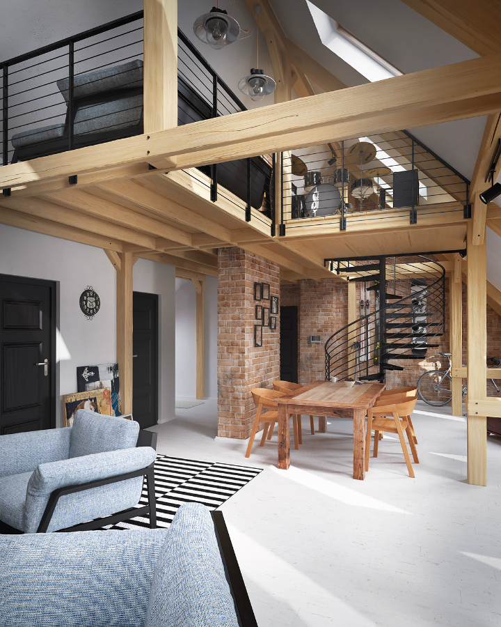 stunning loft interior design idea 14