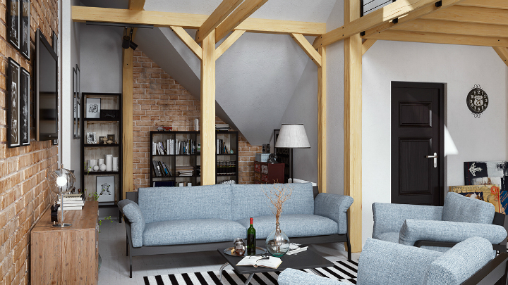 stunning loft interior design idea 2