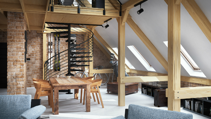 stunning loft interior design idea 3