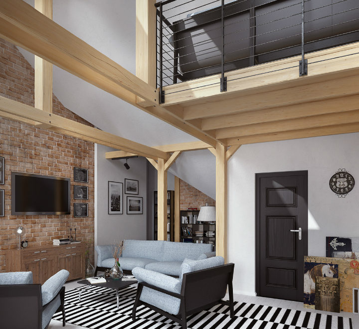 stunning loft interior design idea