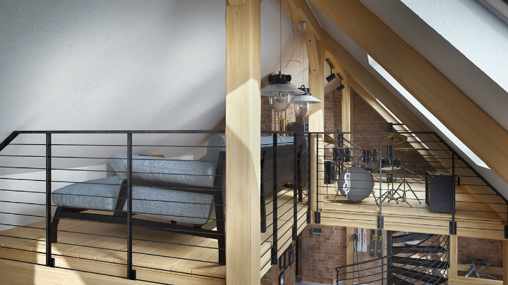 stunning loft interior design idea 9