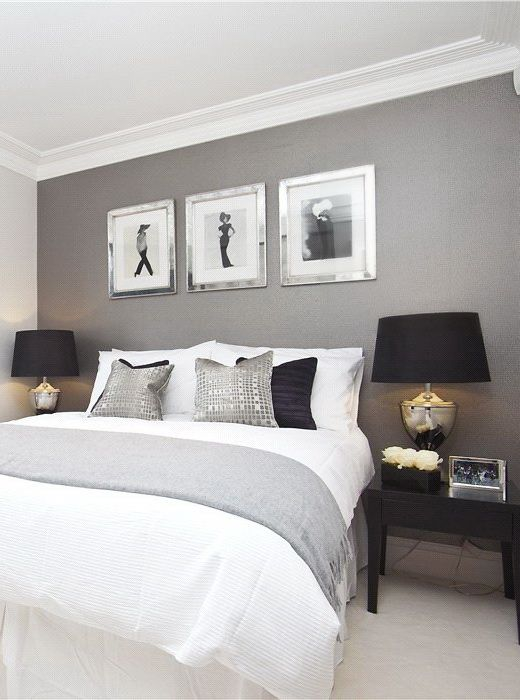 light grey room with black and white details