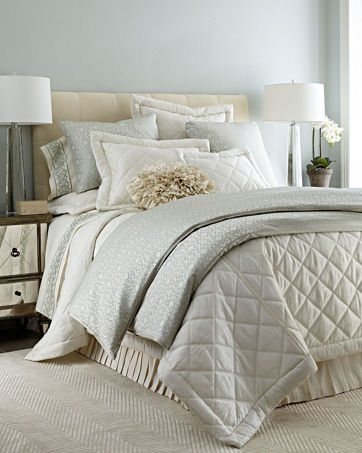 shades of white used in a bedroom