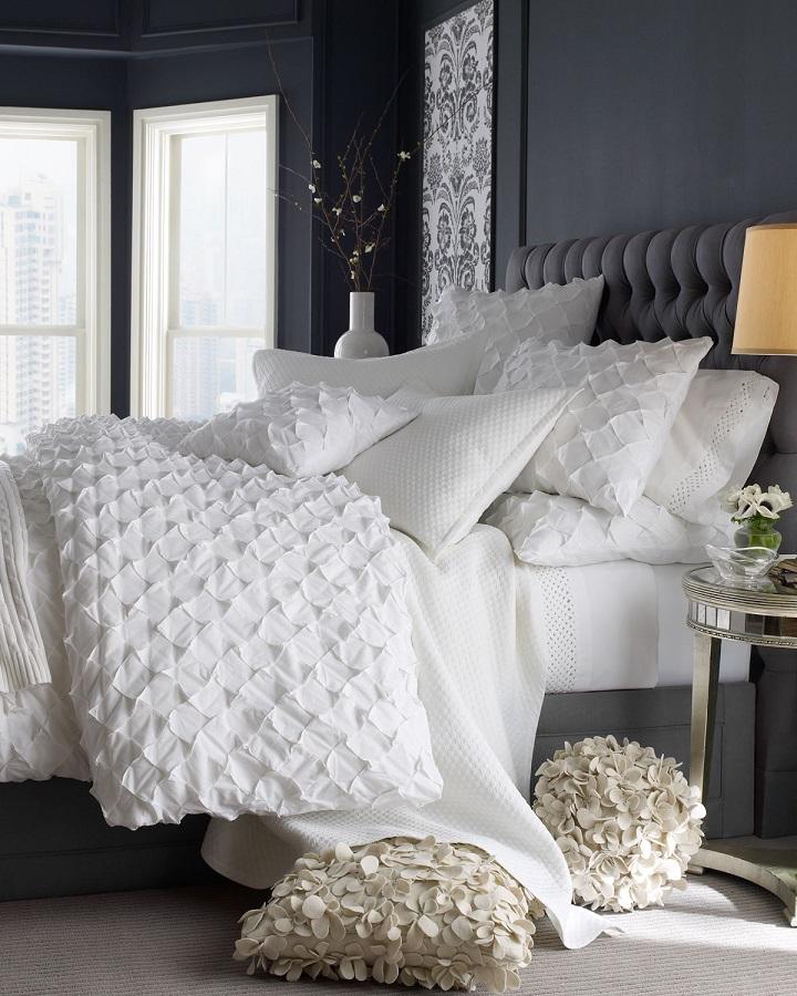 bery dark gray bedroom walls